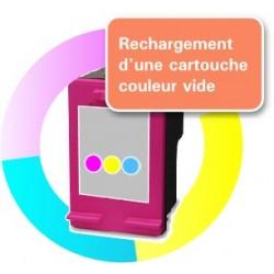 RECHARGEMENT d'une CARTOUCHE D'ENCRE Type HP 62xl tricolor
