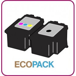 ECOPACK 2 CARTOUCHES D'ENCRE Type CANON 545/546