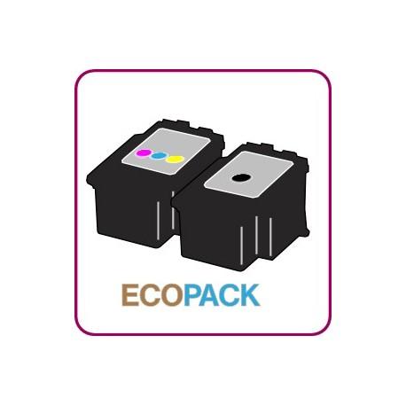 ECOPACK 2 CARTOUCHES D'ENCRE Type CANON 545/546