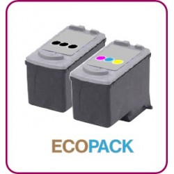 ECOPACK 2 CARTOUCHES D'ENCRE Type CANON 40/41