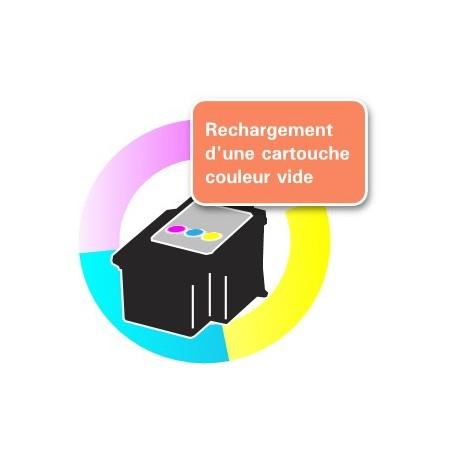 RECHARGEMENT d'une CARTOUCHE D'ENCRE Type CANON CL-511/513