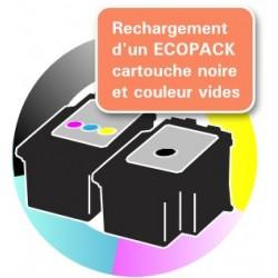 RECHARGEMENT d'un ECOPACK 2 CARTOUCHES D'ENCRE Type CANON 510/511