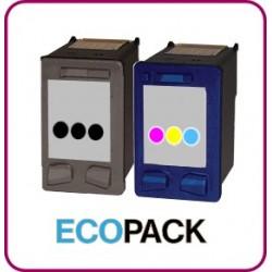 ECOPACK 2 CARTOUCHES D'ENCRE Type HP 56xl et HP 57xl