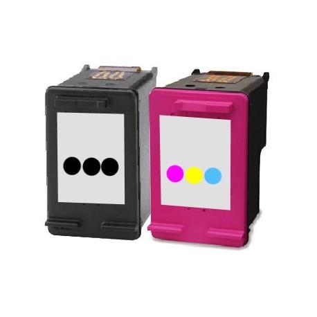 ECOPACK 2 CARTOUCHES D'ENCRE Type HP 300xl noire et couleurs
