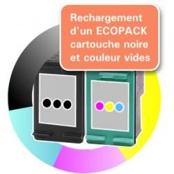 RECHARGEMENT d'un ECOPACK 2 CARTOUCHES D'ENCRE Type HP 338 et HP 343