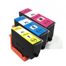 PACK 3 CARTOUCHES D'ENCRE CYAN/JAUNE/MAGENTA Type EPSON 202xl CYM