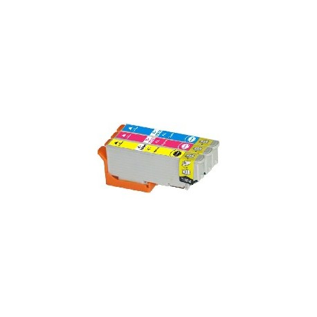 PACK 3 CARTOUCHES D'ENCRE CYAN/JAUNE/MAGENTA Type EPSON T2632/33/34